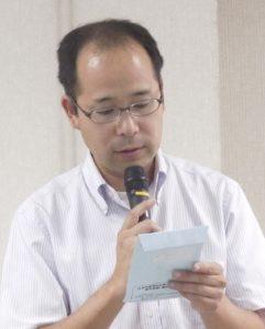 討論のまとめを報告する矢野事務局長