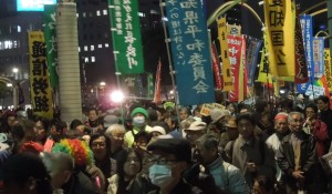 STOP秘密保護法12.6大集会  集会後にパレード 12/6 エンゼル広場