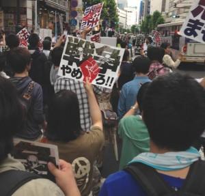 東京・渋谷でデモ行進 6/22