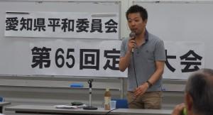 川畑氏による講演 7/6 民主会館