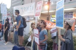 SEALDsTOKAIの宣伝 9/13 名古屋駅西口